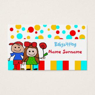 baby-sitter, babysitting, infantário…. cartão de visitas