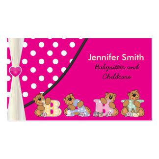 Baby-sitter e puericultura cartão de visita