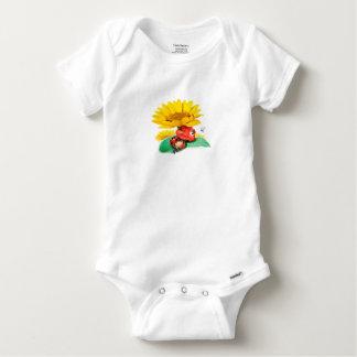 Babygrow pequeno sonolento do joaninha body para bebê