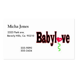 Babylove Modelos Cartão De Visita