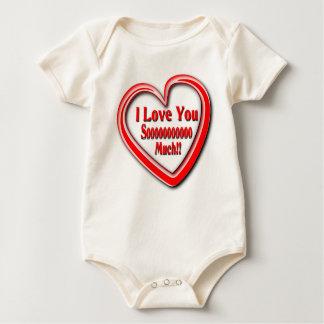 Babysuit orgânico unisex com texto do amor body para bebê