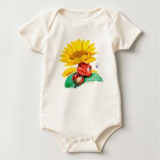 Babysuit snoozy pequeno lindo do joaninha body para bebê