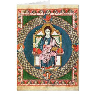 Bacalhau. Cristo 1948 na majestade Cartão Comemorativo