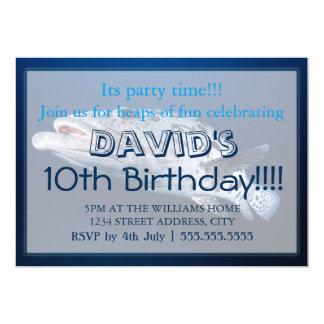 Bacalhau da batata nos convites do aniversário do