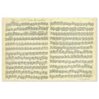 Bach Partita para o manuscrito de solo da música Papel De Seda