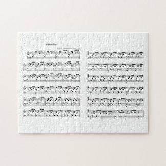 Bach the Well Tempered Clavier Prealudium 1 C-duro Quebra-cabeça