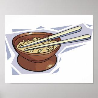Bacia de poster do arroz