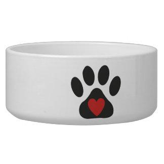 Bacia do animal de estimação do amor do cão tijela para água para cachorros