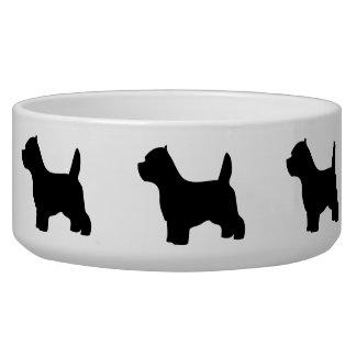Bacia do animal de estimação do cão de Terrier bra Tijela Para Água Para Cachorros
