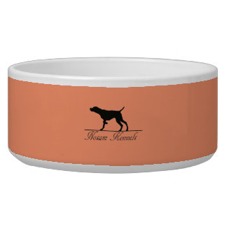 Bacia do animal de estimação do logotipo dos canis tijelas para comida de cachorros