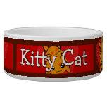 Bacia personalizada impressão do gato do gatinho tijela para comida de cachorros