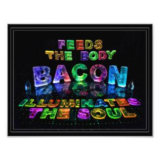 Bacon - as alimentações o corpo, iluminam a alma fotografia