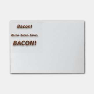 Bacon! Bacon, bacon, bacon, BACON!!! Bloquinho De Nota