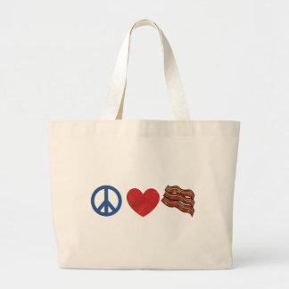 Bacon do amor da paz bolsas para compras