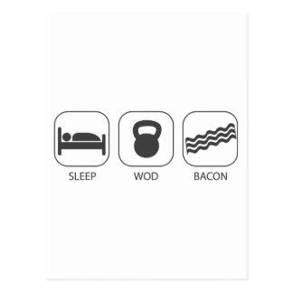 Bacon do sono WOD - levantamento do exercício e de Cartão Postal