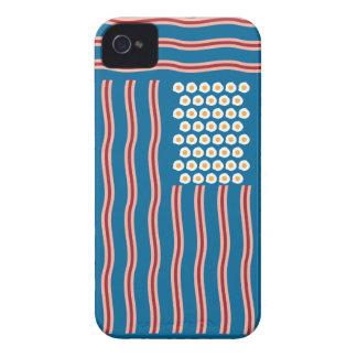 Bacon para o capa de iphone 4 engraçado dos E.U. Capa Para iPhone