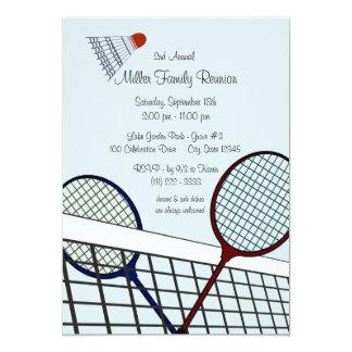 Badminton dos jogos do quintal convite 12.7 x 17.78cm
