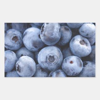 Baga das bagas da fruta do petisco dos mirtilos adesivo retangular