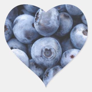 Baga das bagas da fruta do petisco dos mirtilos adesivo coração