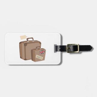 Bagagem do viagem tags de mala