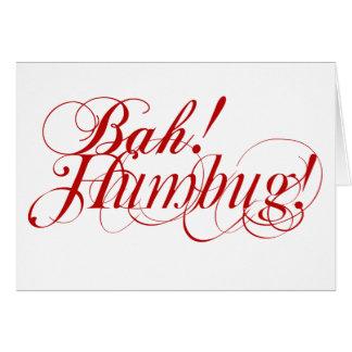 Bah! Farsa! cartão de Natal da tipografia