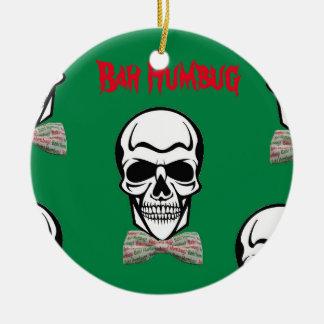 Bah Farsa de Morte Ornamento De Cerâmica Redondo