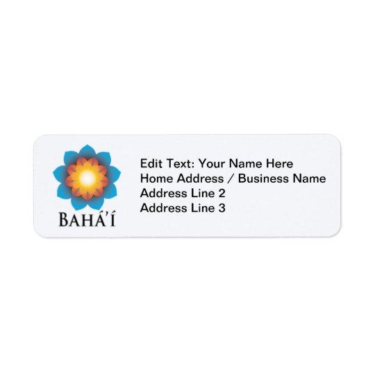 Bahá'í Etiqueta Endereço De Retorno