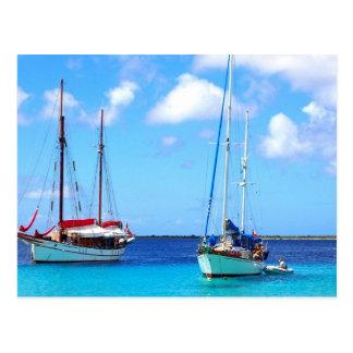 Baía Bonaire de Kralendijk do cartão