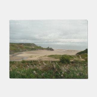 Baía de 3 penhascos - o Gower, Wales Tapete