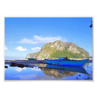 Baía de Bacuit de Palawan Impressão De Foto