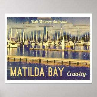baía de Matilda do poster de viagens do