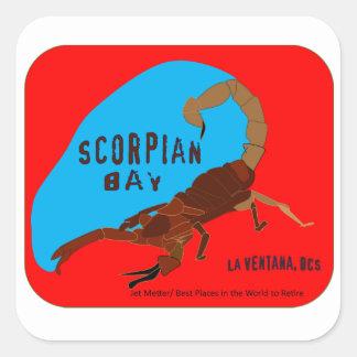 Baía do escorpião, baía de Ventana do La, Baja Adesivo Quadrado