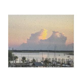 Baía dos barcos da opinião do porto e o impressão