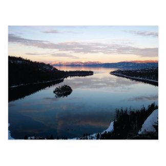 Baía esmeralda, cartão de Lake Tahoe Cartão Postal