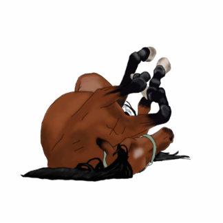 Baía tirada Digital ou rolamento do cavalo de Escultura De Foto