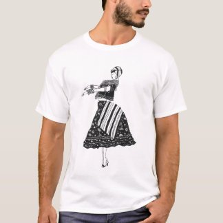 Baiana Preto e Branco Camiseta