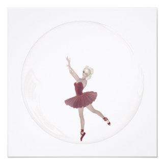 bailarina 3 da bolha 3D Convite Personalizados