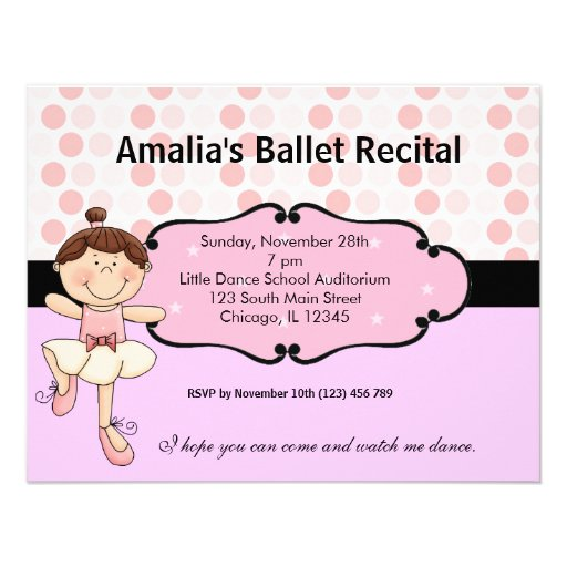 Bailarina Convites Personalizados