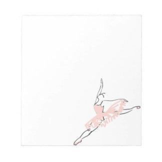 Bailarina cor-de-rosa bonito bloco de notas