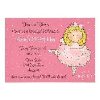 Bailarina de Blondie Convite 12.7 X 17.78cm