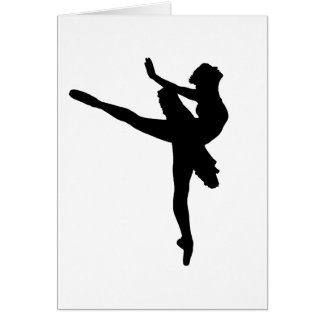BAILARINA DE PRIMA! (~ do dançarino de balé) Cartão Comemorativo