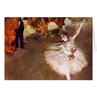 Bailarina de Prima por Edgar Degas, arte do balé Cartão Comemorativo