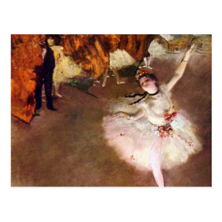 Bailarina de Prima por Edgar Degas, arte do balé Cartoes Postais