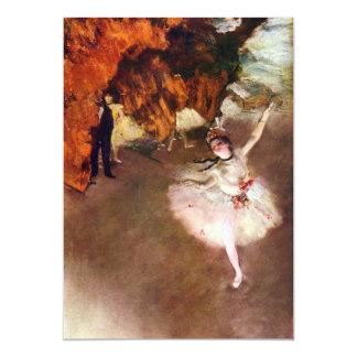 Bailarina de Prima por Edgar Degas, arte do balé Convites Personalizados
