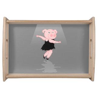 Bailarina do porco bandejas de servir