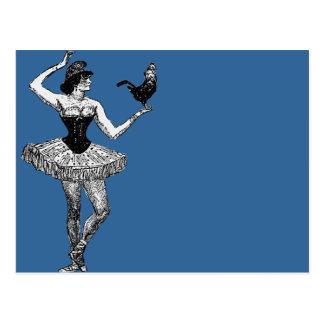 Bailarina do vintage que guardara a ilustração do