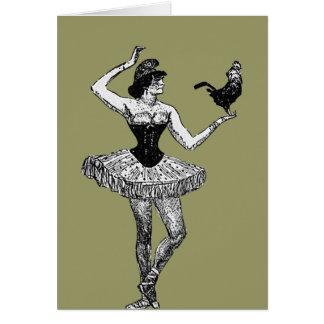 Bailarina do vintage que guardara a ilustração do cartão de nota