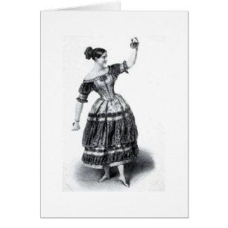 Bailarina Fanny Elssler, cartão