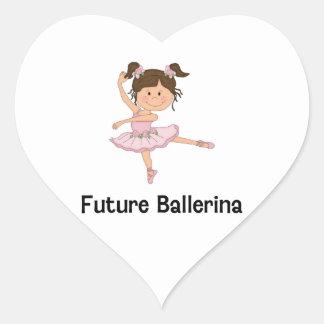Bailarina futura adesivo de coração