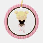 Bailarina pequena enfeite para arvore de natal
